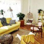 03 Schönes gelbes Sofa für Wohnzimmer-Dekor-Ideen   - Yellow sofa - #für #Gel...