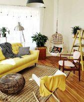 03 Schönes gelbes Sofa für Wohnzimmer-Dekor-Ideen   – Yellow sofa – #für #Gel…