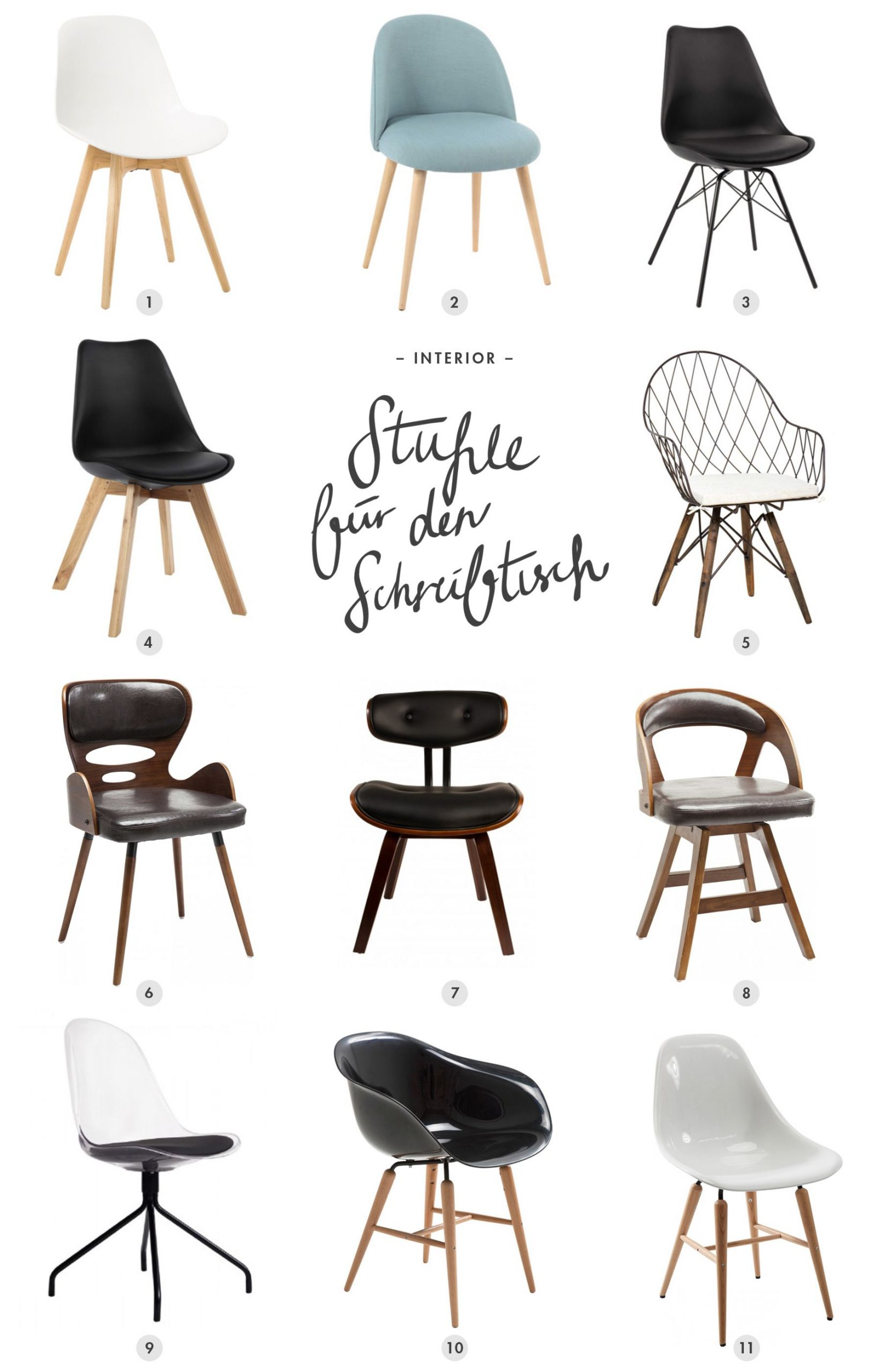 11 schöne Stühle für den Schreibtisch #office #chair #interiordesign #interio…