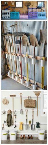 12 Gartengeräte-Lagerregale, die Sie ganz einfach herstellen können – #,  #die #einfach #ganz…
