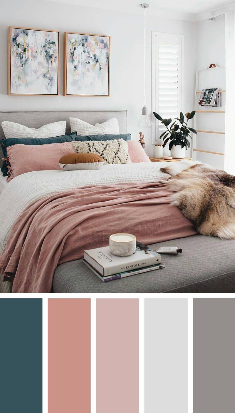 12 superbes combinaisons de couleurs de chambres à coucher qui vous donneront l'inspiration pour votre prochain réaménagement de chambre – bingefashion.com/fr