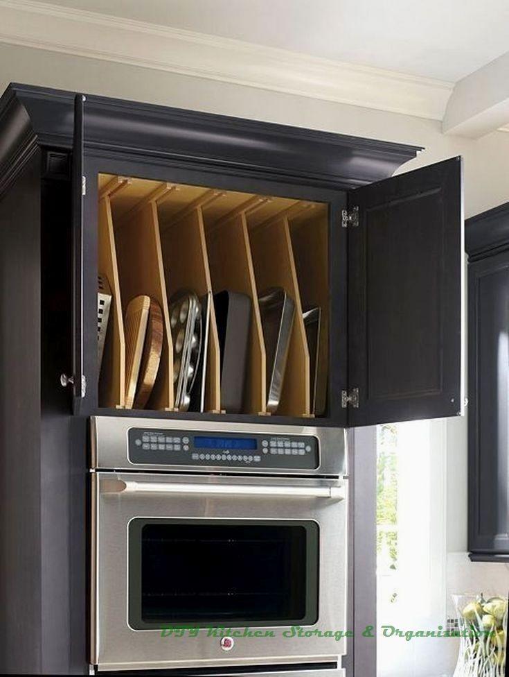 13 DIY Ideas for Kitchen Storage #kitchenorganization