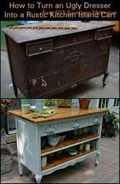 15+ Trendy kitchen island cart diy cabinets – #cabinets #island #kitchen #trendy…