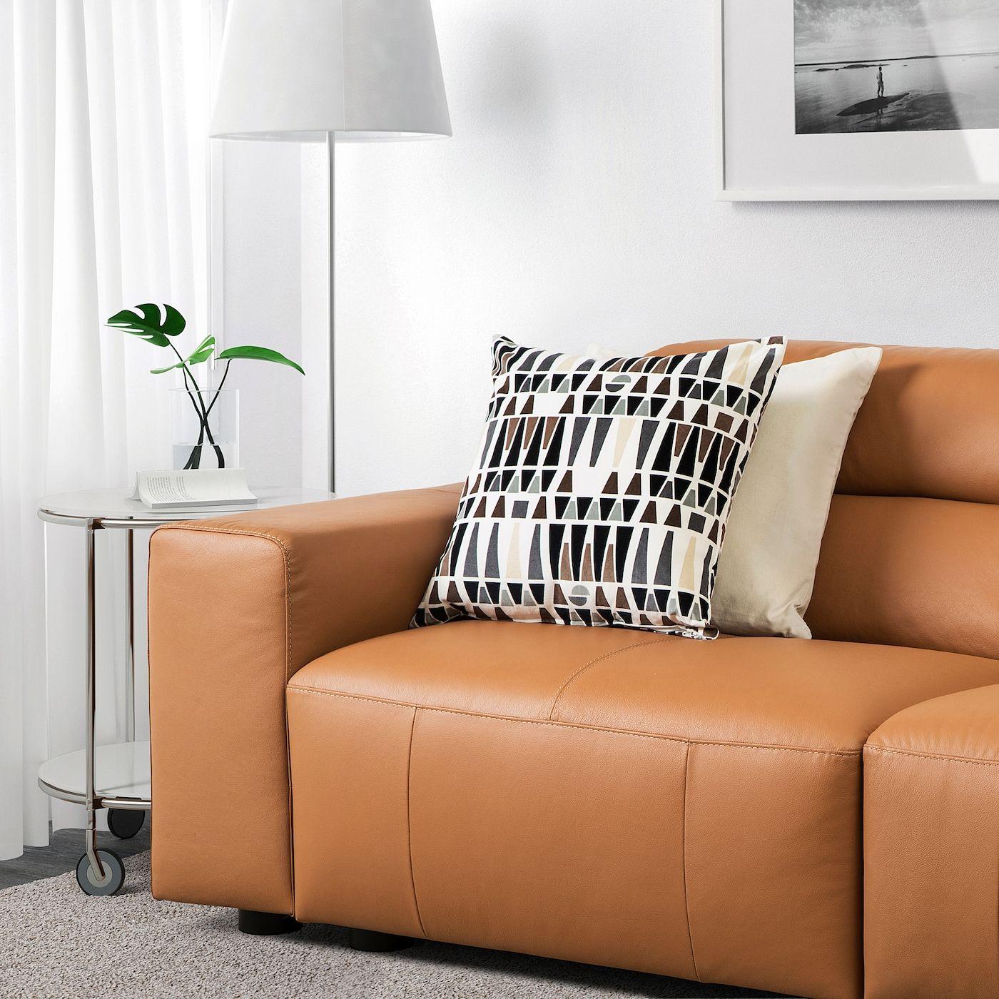 SNOGGE Ecksofa 3-sitzig – Grann ohne Abschluss rechts, Grann goldbraun – IKEA