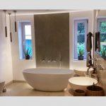 Freistehende Badewanne Piemont Medio aus Mineralguss - Weiss glänzend