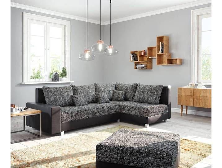 DELIFE Couch Panama Wohnlandschaft modular, schwarz, Ecksofa, Ottomane
