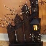 Rustikale Home Decor, Picket Zaun, Laterne, Kerzenhalter, einzeln oder set, Picket Zaun Kerzenhalter Laterne, Land Dekor - https://bingefashion.com/haus