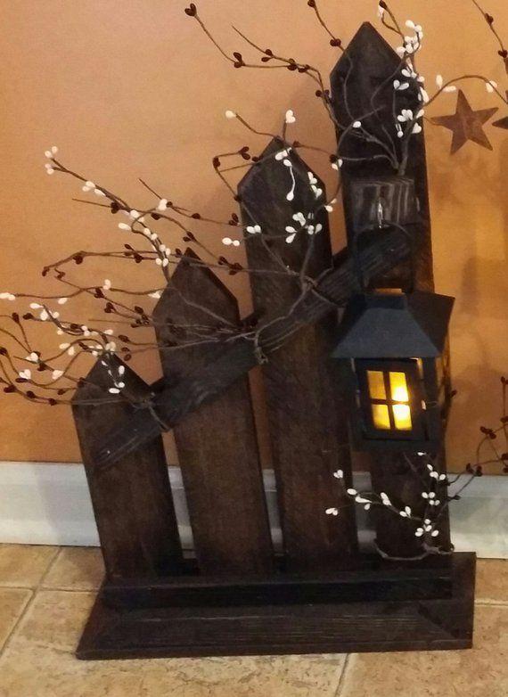 Rustikale Home Decor, Picket Zaun, Laterne, Kerzenhalter, einzeln oder set, Picket Zaun Kerzenhalter Laterne, Land Dekor – https://bingefashion.com/haus