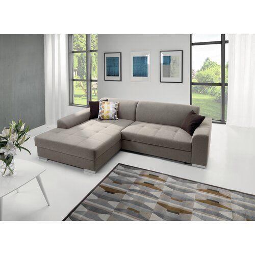 Home & Haus Ecksofa Rossroe mit Bettfunktion | Wayfair.de