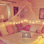 Ideen für Mädchen Kinderzimmer zur Einrichtung und Dekoration. DIY Betten für...
