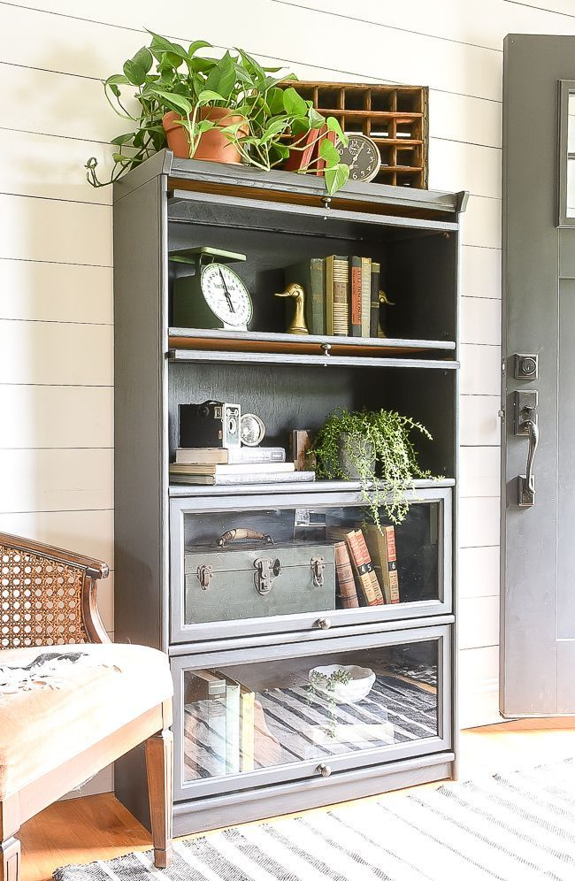 Painted Vintage Barrister Style Bookcase