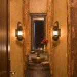 Schöne rustikale Badezimmer-Beleuchtungs-Ideen-Design-Ideen#designe #designerde...
