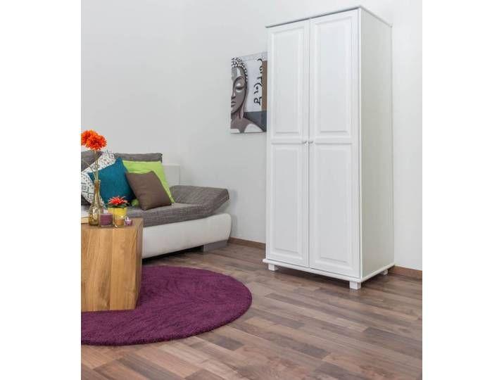 weißer Kleiderschrank 190x80x60 cm