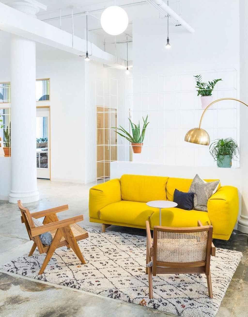 16 schönes gelbes Sofa für Wohnzimmer-Dekor-Ideen