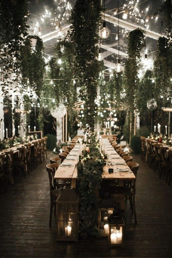 18 Stunning Ways to Decorate Your Wedding Reception with Lights and Greenery – EmmaLovesWeddings
