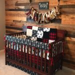 2 Day Ship - Boy Crib Bedding - Buck Deer, Black Arrows, Lodge Red Black Buffalo Check, and Black, Woodland Baby Bedding