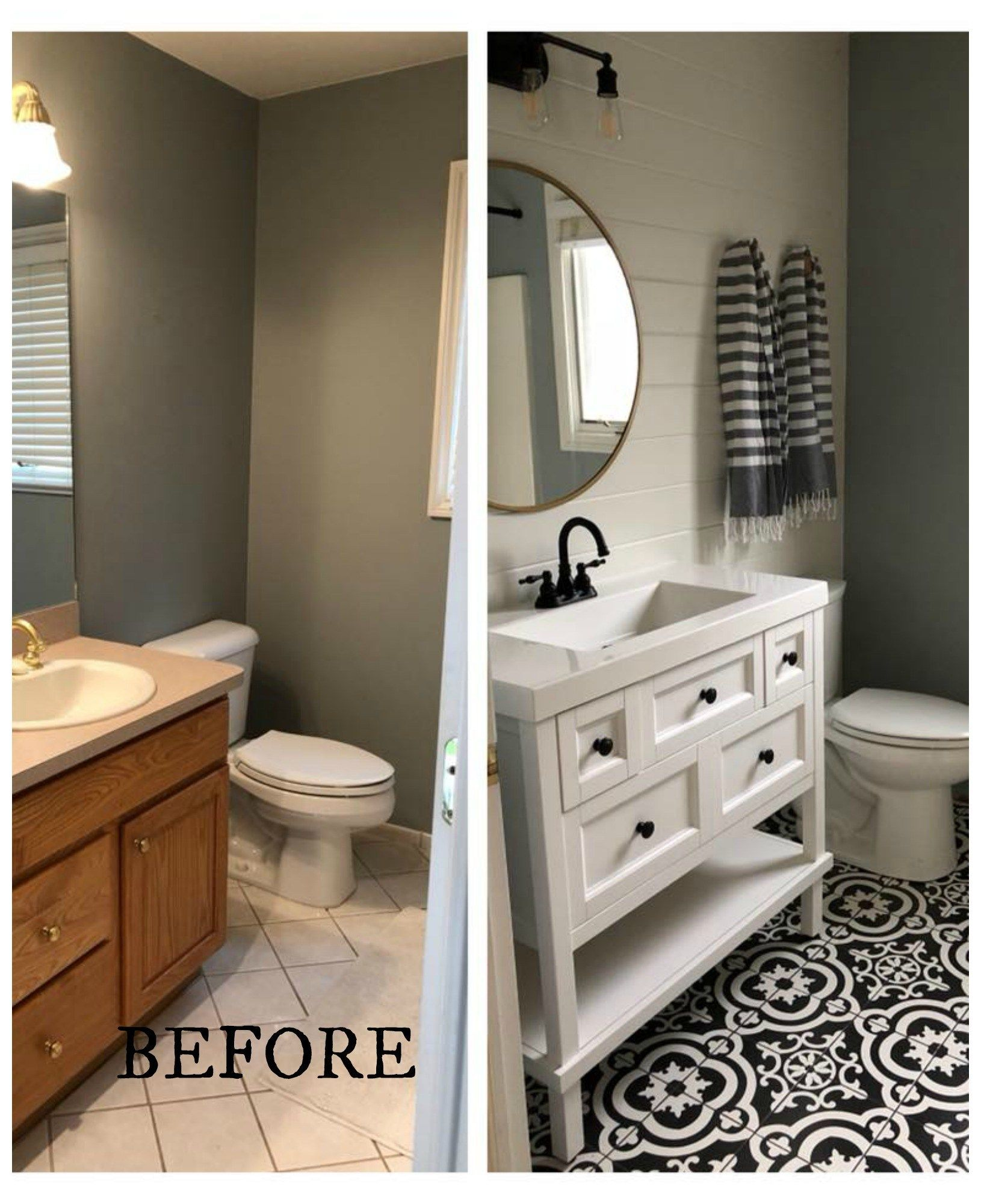 20 Bathroom Makeovers- Before and Afters – Nesting With Grace