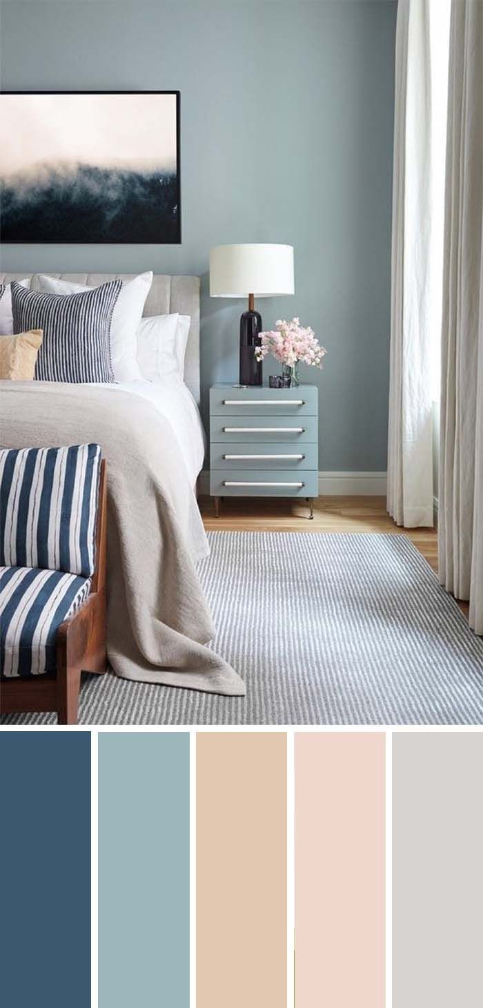 20 Beautiful Bedroom Color Schemes ( Color Chart Included )