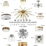 20 Modern Flush Mount & Semi-Flush Mount Lighting Ideas  — Katrina Blair | Interior Design | Small Home Style | Modern LivingKatrina Blair