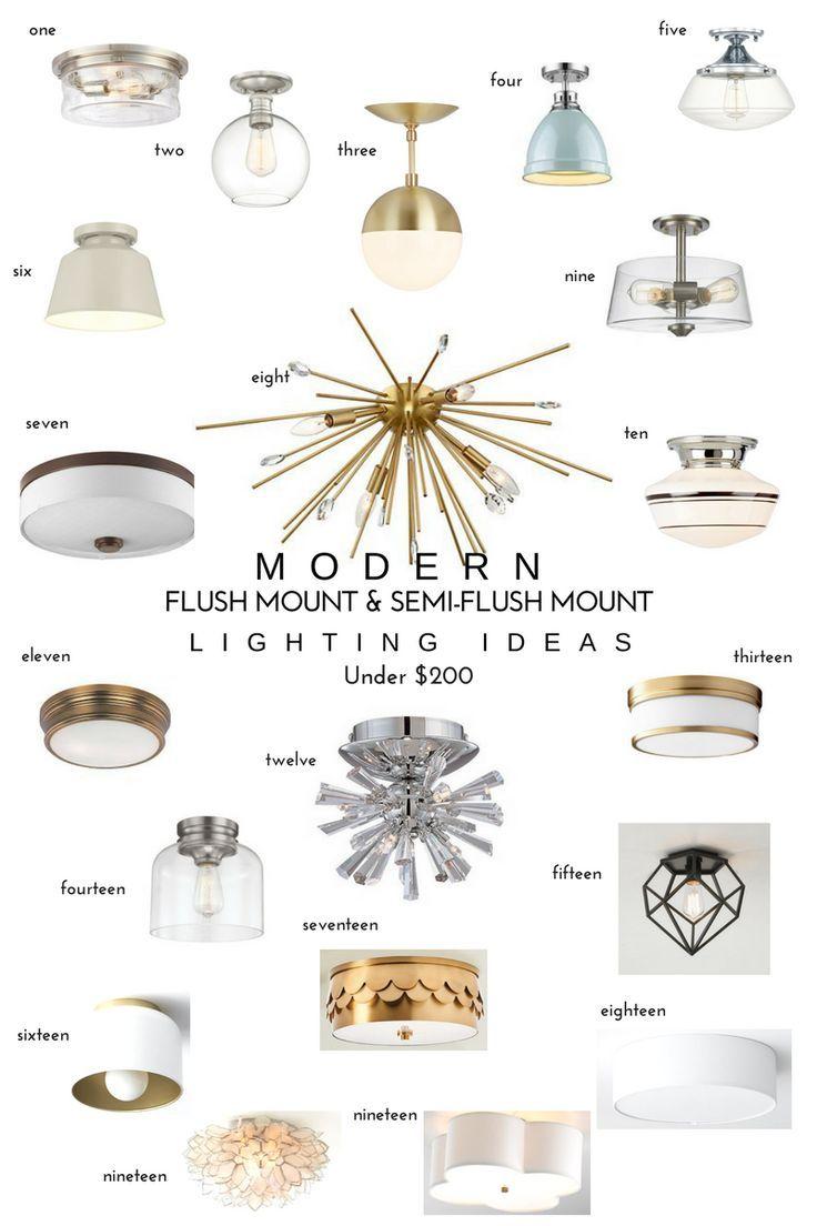 20 Modern Flush Mount & Semi-Flush Mount Lighting Ideas  — Katrina Blair | Interior Design | Small Home Style | Modern LivingKatrina Blair