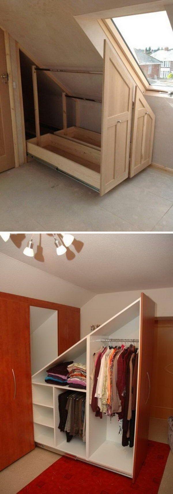 20+ smart storage ideas for your attic – making diyselber#attic #diyselber #idea…