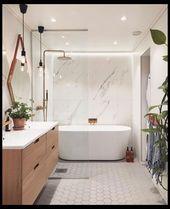 22 Wunderschöne Ideen für die Badezimmerdekoration | Badezimmer-Entwürfe für…