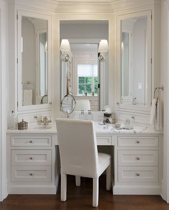 25+ Most Inspiring Bathroom Vanity With Seating Area Ideas To Try – Easy Pin