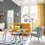 26 Schönes gelbes Sofa für Wohnzimmer-Dekor-Ideen