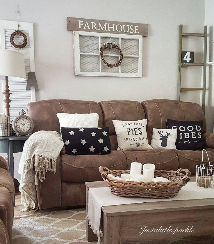 27 Rustic Farmhouse Living Room Decor Ideas for Your Home | Homelovr