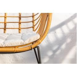 2er Set wetterfester Gartenstuhl Bamboo Lounge Rattan inkl. Sitzkissen Riess AmbienteRiess Ambiente