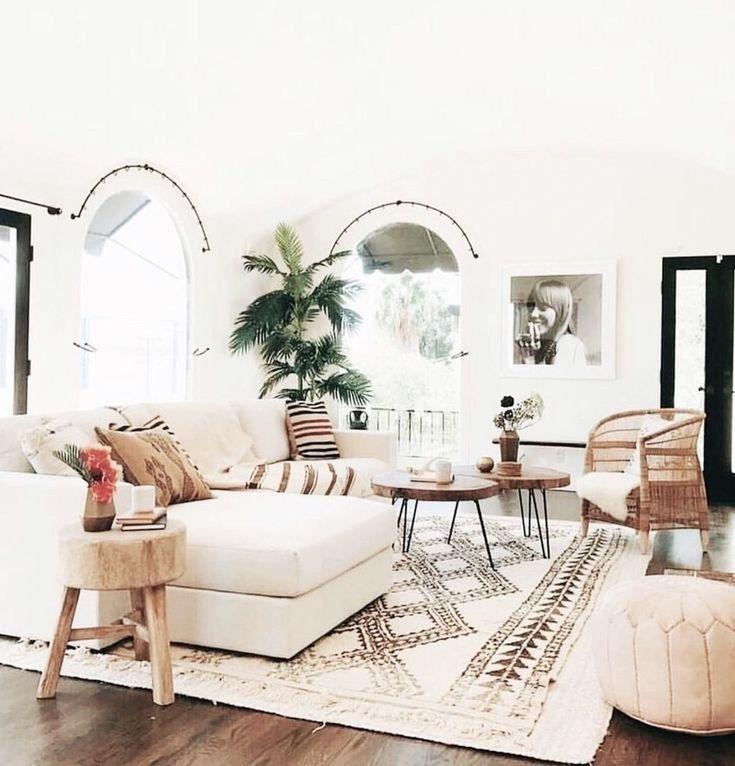 30 Boho Living Room Ideas – Bohemian decor inpsiration for your living room. Bea… – Home Decor Art