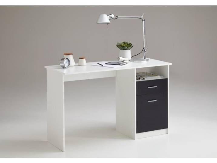 3004-001 Jackson weiss / schwarz Schreibtisch Arbeitstisch Bürotisch K