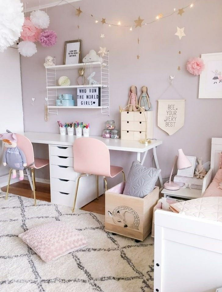 33+ Beautiful Girl Bedroom Ideas (Colorful and Creative)