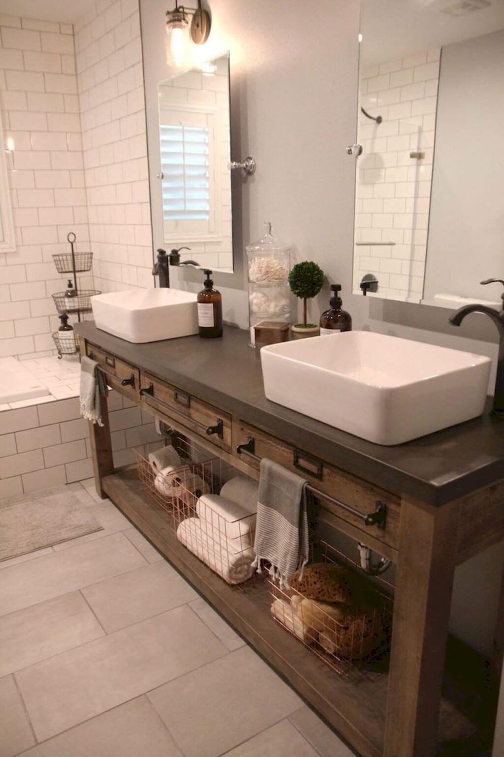 35 idées de vanités de salle de bains rustiques pour stimuler votre prochaine rénovation – bingefashion.com/fr