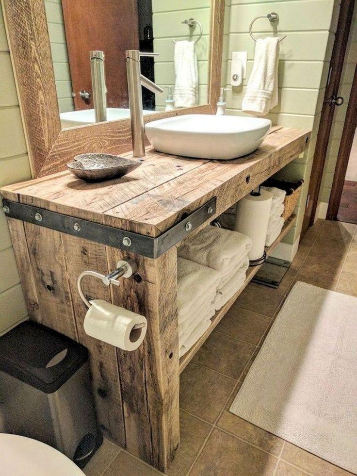 38 Inspirierende Ideen für rustikales Badezimmerdesign im Bad #hausdesign #rust… –  #bad #b… – https://bingefashion.com/haus