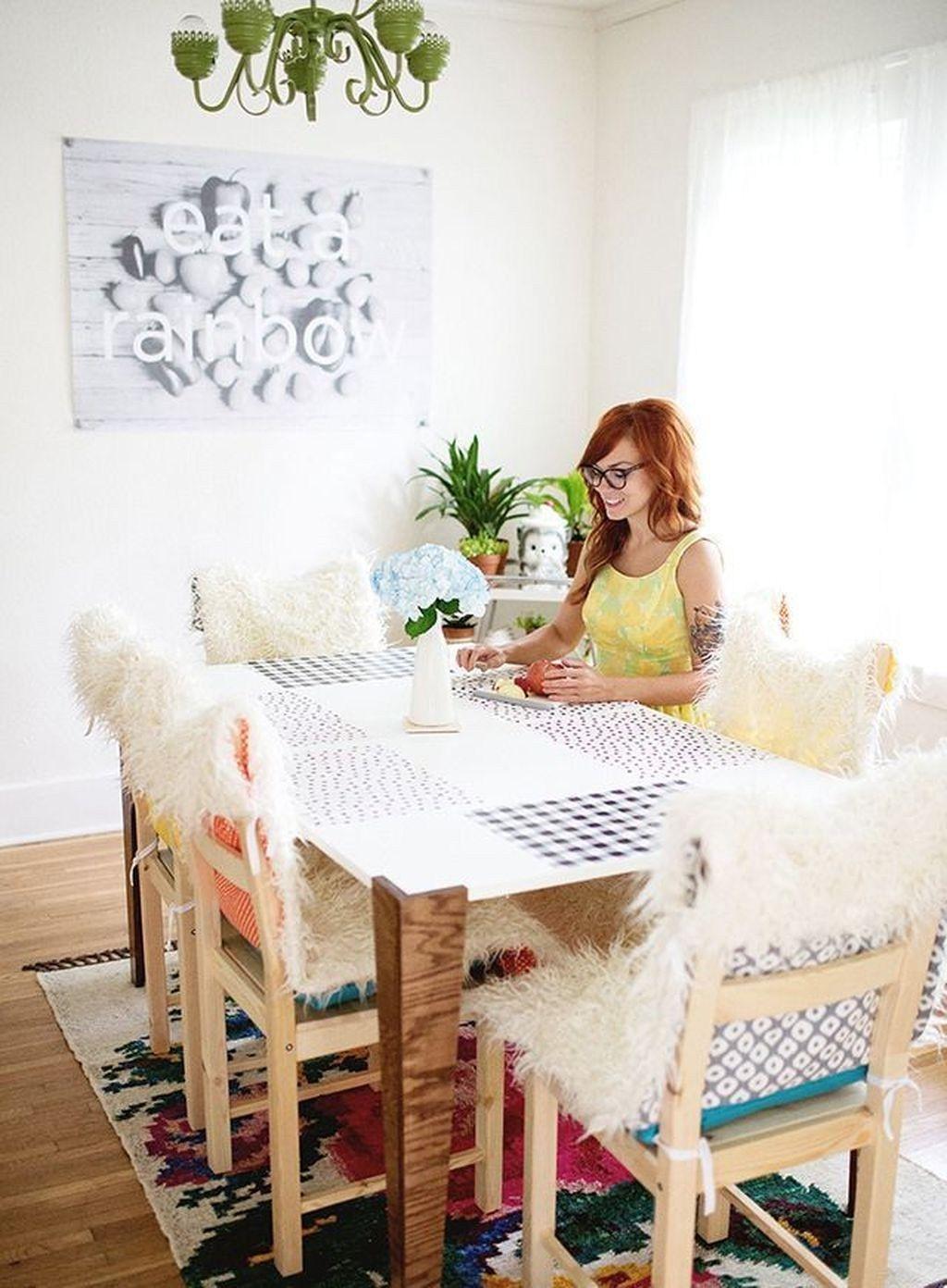 42 Wunderschöne Shabby Chic Stuhlhussen Design für Esszimmer – Diy und Deko