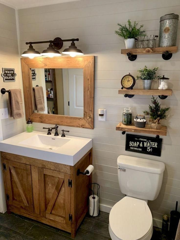 43 beautiful farmhouse bathroom decor ideas you will go crazy for 5 – worldefashion.com/decor