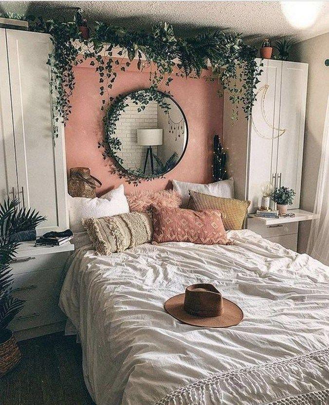 44 elegant boho bedroom decor ideas for small apartment 15 | Glebemines.com#apar…