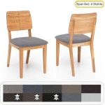 4x Holzstuhl Norea 2 Polsterstuhl Varianten Esszimmerstuhl Küchenstuhl