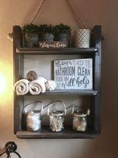 50 Lovely Bathroom Decor Ideas With Farmhouse Style Check more at https://emreerdem.com.tr/50…