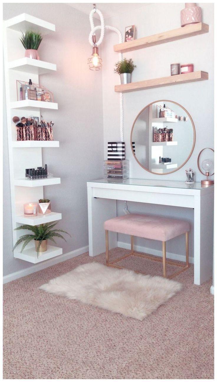 53 der besten Make-up-Eitelkeiten und Koffer für ein stilvolles Schlafzimmer 21 – https://pickndecor.com/dekor