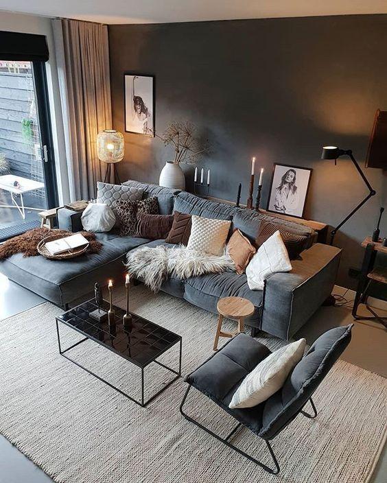 62 moderne Deko-Ideen fürs Wohnzimmer – Seite 33 von 62 – https://pickndecor.com/dekor