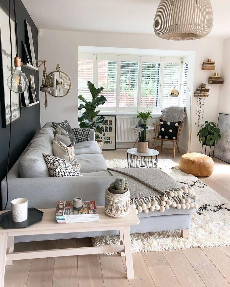67 inspirierende, moderne Wohnzimmerdekorationsideen für kleine Apartments, die Ihnen gefallen werden 67 – https://pickndecor.com/dekor