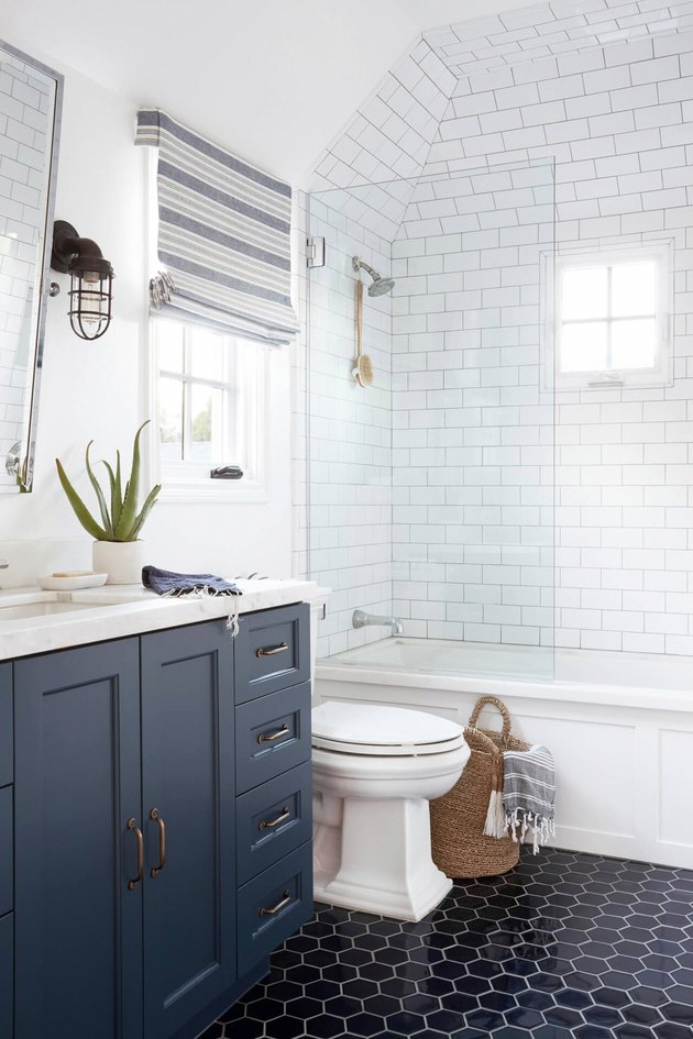 7 Pretty Bathroom Floor Tile Ideas to Pin (Even If You're Not Remodeling) | Hunk…