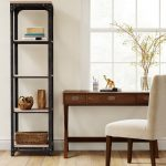 "72"" Franklin 5 Shelf Narrow Bookcase Gray - Threshold"