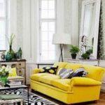 75 schönes gelbes Sofa für Wohnzimmer-Dekor-Ideen
