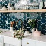 9 Fresh Ideas for Your Kitchen Backsplash Tile #kitchen pretty teal tile in the ...