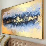 Acrylic Paintings, Original Art, Abstract Painting, Paintings on Canvas, Gold Painting, Acrylic Paintings, Original Painting, Canvas