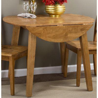 Alcott Hill Antrim Drop Leaf Solid Wood Dining Table   Wayfair