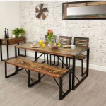 Although a formal sit-down dining table will require proper chairs, a trend that...